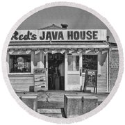 Red's Java House San Francisco By Diana Sainz Round Beach Towel
