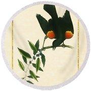 Redwing Blackbird Vertical Round Beach Towel