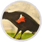 Redwing Muses Round Beach Towel