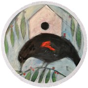 Redwing White House Round Beach Towel