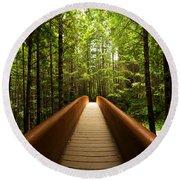 Redwood Bridge Round Beach Towel