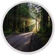 Redwood National Park Morning Round Beach Towel