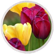 Redyellowtulips6728 Round Beach Towel