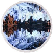Reed Flute Cave Guillin China Round Beach Towel