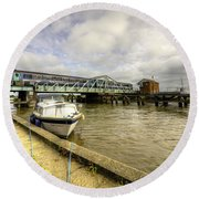 Reedham Swing Bridge  Round Beach Towel