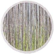 Reeds Background Round Beach Towel by Tom Gowanlock