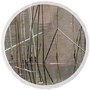 Reeds Round Beach Towel