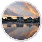 Reflect On This Round Beach Towel