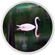 Reflect Yourself Round Beach Towel