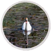Reflected Beauty Round Beach Towel