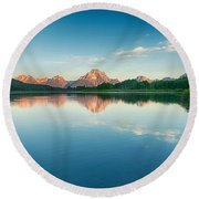 Reflected Round Beach Towel