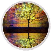 Reflected Dreams Round Beach Towel
