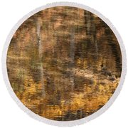 Reflected Gold Round Beach Towel