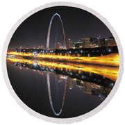 Reflected St. Louis Round Beach Towel