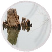 Reflecting Back To Once Was Round Beach Towel