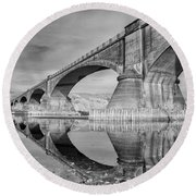 Reflecting Fernbridge Round Beach Towel