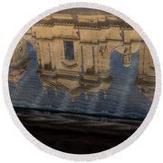Reflecting On Noto And The Beautiful Sicilian Baroque Style Round Beach Towel