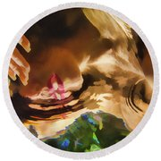 Reflecting On The Surface 1 Round Beach Towel