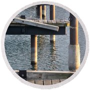 Reflecting Repetitions V2 Round Beach Towel