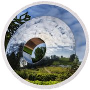 Reflecting The Countryside Round Beach Towel