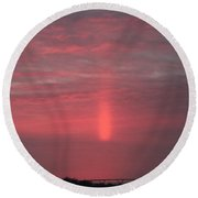 Reflection After Sunset Round Beach Towel