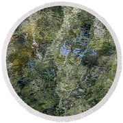 Reflection Art Round Beach Towel by Roxy Hurtubise