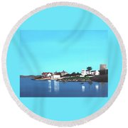 Reflections At Sandycove Round Beach Towel