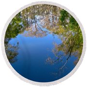 Reflection Round Beach Towel by Denise Mazzocco