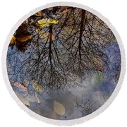 Reflection In A Puddle Round Beach Towel