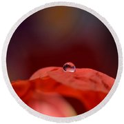 Reflection In Red Round Beach Towel