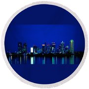 Reflection Of Dallas Round Beach Towel