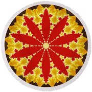 Reflection Of Fire Round Beach Towel