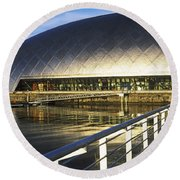 Reflection Of The Glasgow Science Round Beach Towel