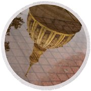 reflection of WV Round Beach Towel
