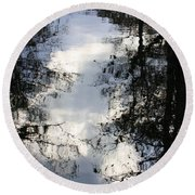 Reflection On Sweet Water Strand Round Beach Towel
