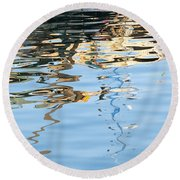 Reflections - White Round Beach Towel