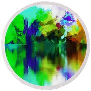 Reflections 012013 Round Beach Towel