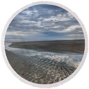 Reflections At Low Tide Round Beach Towel