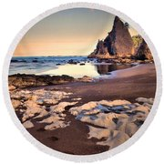 Reflections At Rialto Round Beach Towel