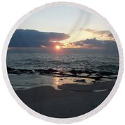Reflections Cape May Point Round Beach Towel