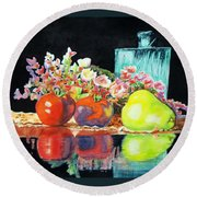 Reflections In Color Round Beach Towel