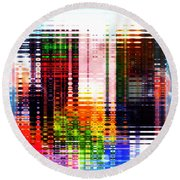 Reflections In Technicolor Round Beach Towel