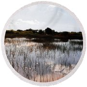 Reflections In The Everglades  Round Beach Towel