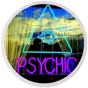 Reflections Of A Psychic Round Beach Towel