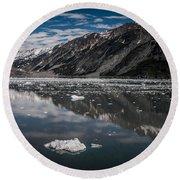 Reflections Of Alaska Round Beach Towel