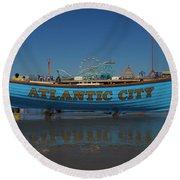 Reflections Of Atlantic City Round Beach Towel