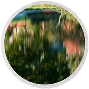 Reflections Of Colours  Round Beach Towel