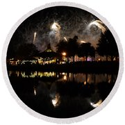 Reflections Of Epcot Round Beach Towel