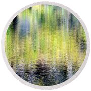 Reflections Of Fall 3 Round Beach Towel