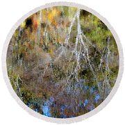 Reflections Of Fall 5 Round Beach Towel
